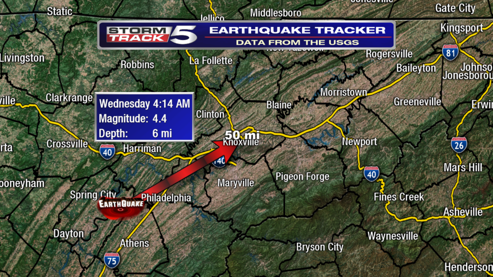 earthquake in tennessee today