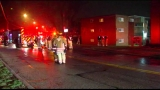 Three displaced after fire breaks out in kitchen