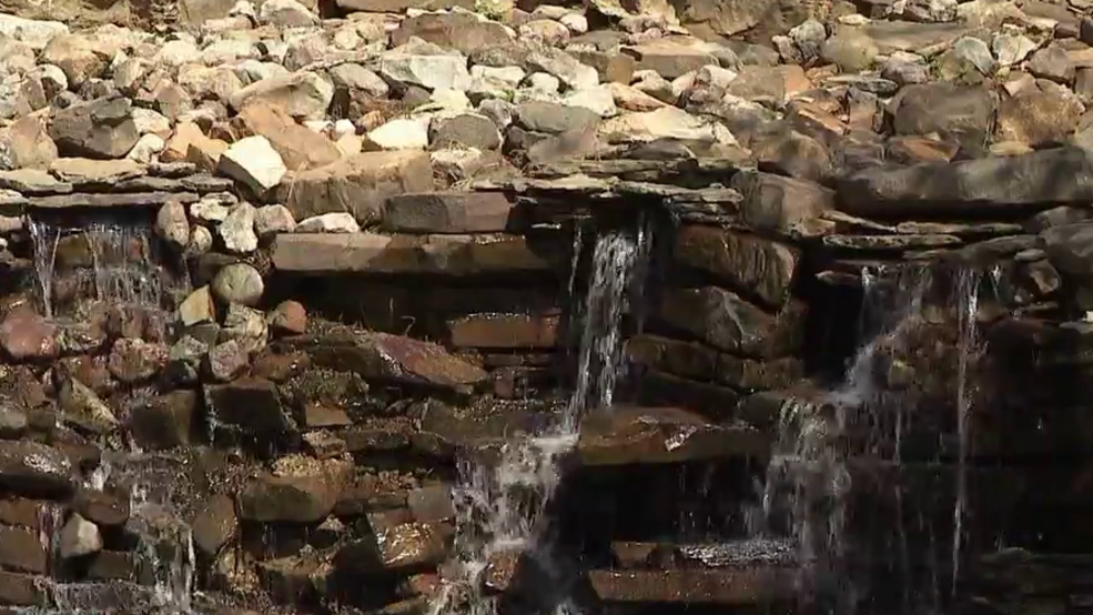 Waterfall restored at historic Old Mill