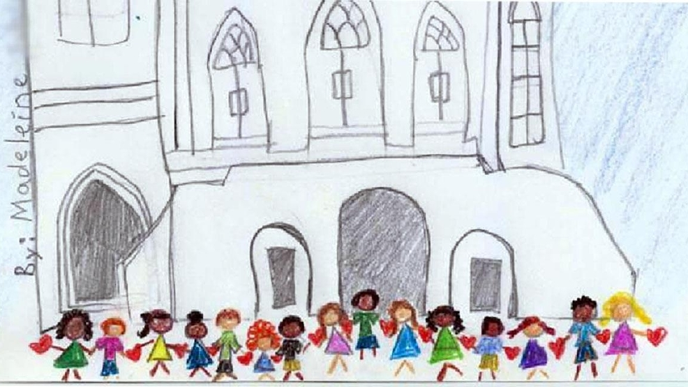 Little girl\'s drawing of Charleston church strikes a chord with ...