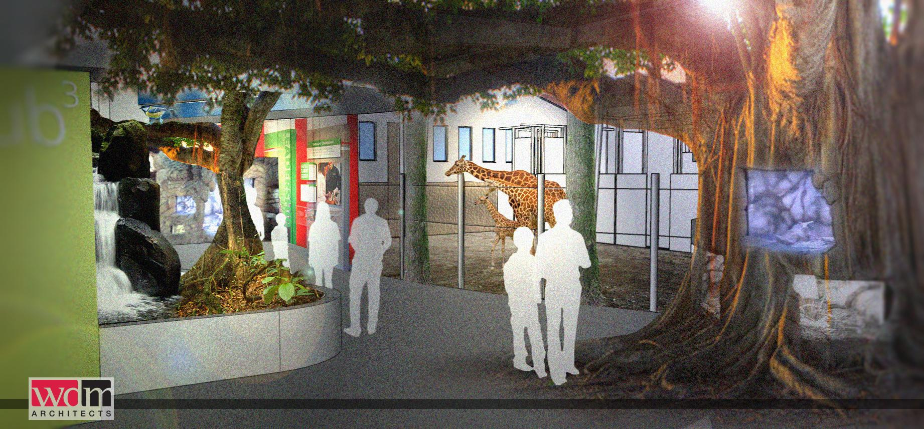 A rendering of the new Animals of the Savannah  exhibit planned for the first phase of Seneca Park Zoo's master renovation plan. (Photo: Monroe County)
