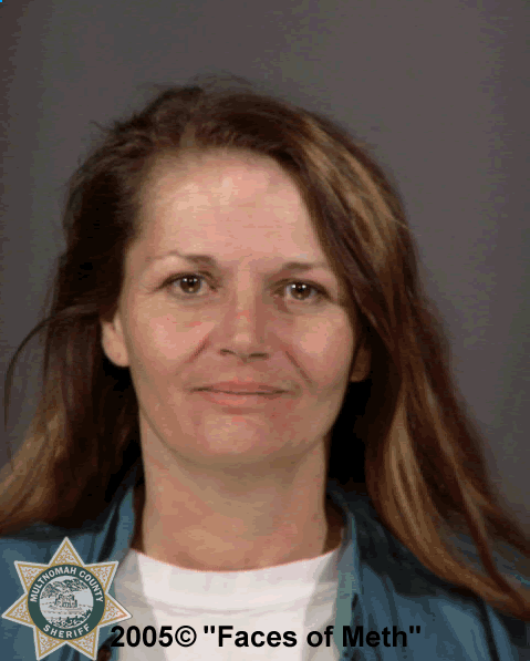 "Photo of woman taken before methamphetamine related use according to Multnomah County Sheriff's Office, Oregon . The photo was part of a 2005 project called ""Faces of Meth"" put on by the Multnomah County Sheriff's Office to help raise awareness about the drug's dangers. (Photo and info courtesy of the Multnomah County Sheriff's Office)"