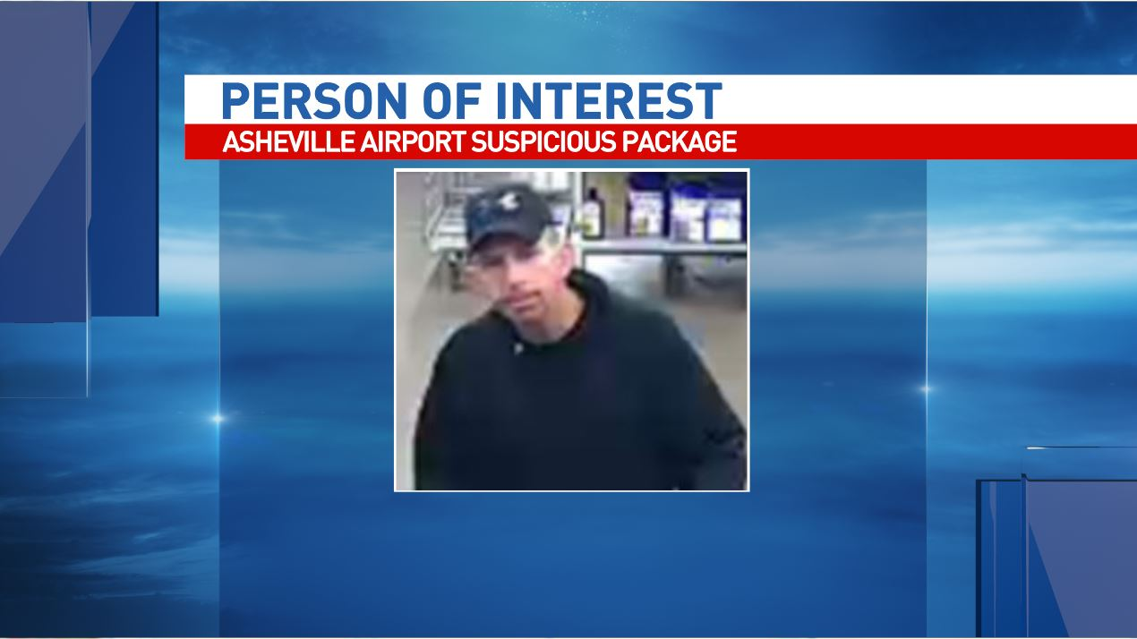 Police ask for public's help in finding person of interest in airport 'explosive device.' (Photo credit: Asheville Police Department)<p></p>