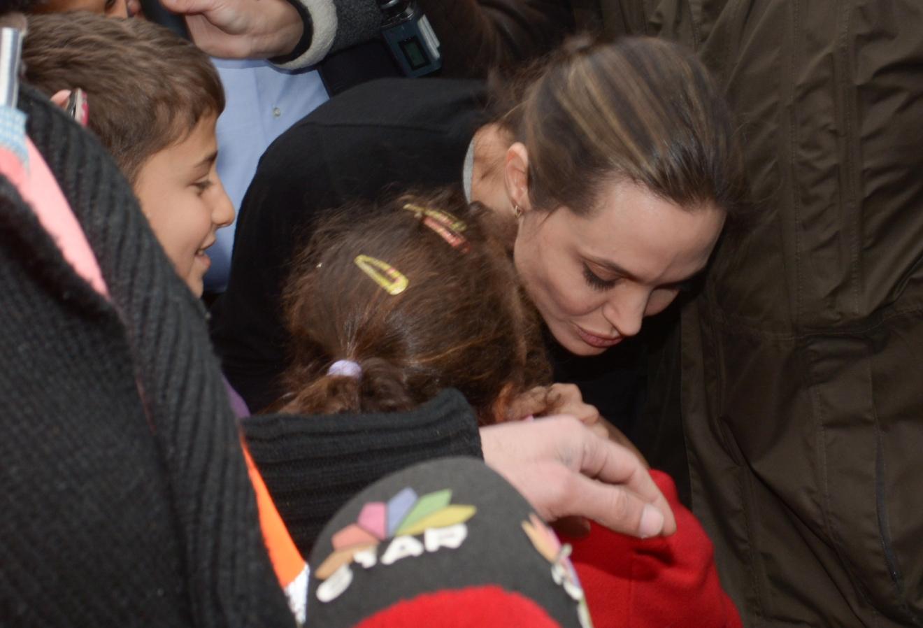 U N Goodwill Ambador Angelina Jolie Visits Piraeus To Speak Refugees During Her Visit Greece