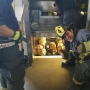 PHOTO: Cops get stuck in elevator, call fire department for help