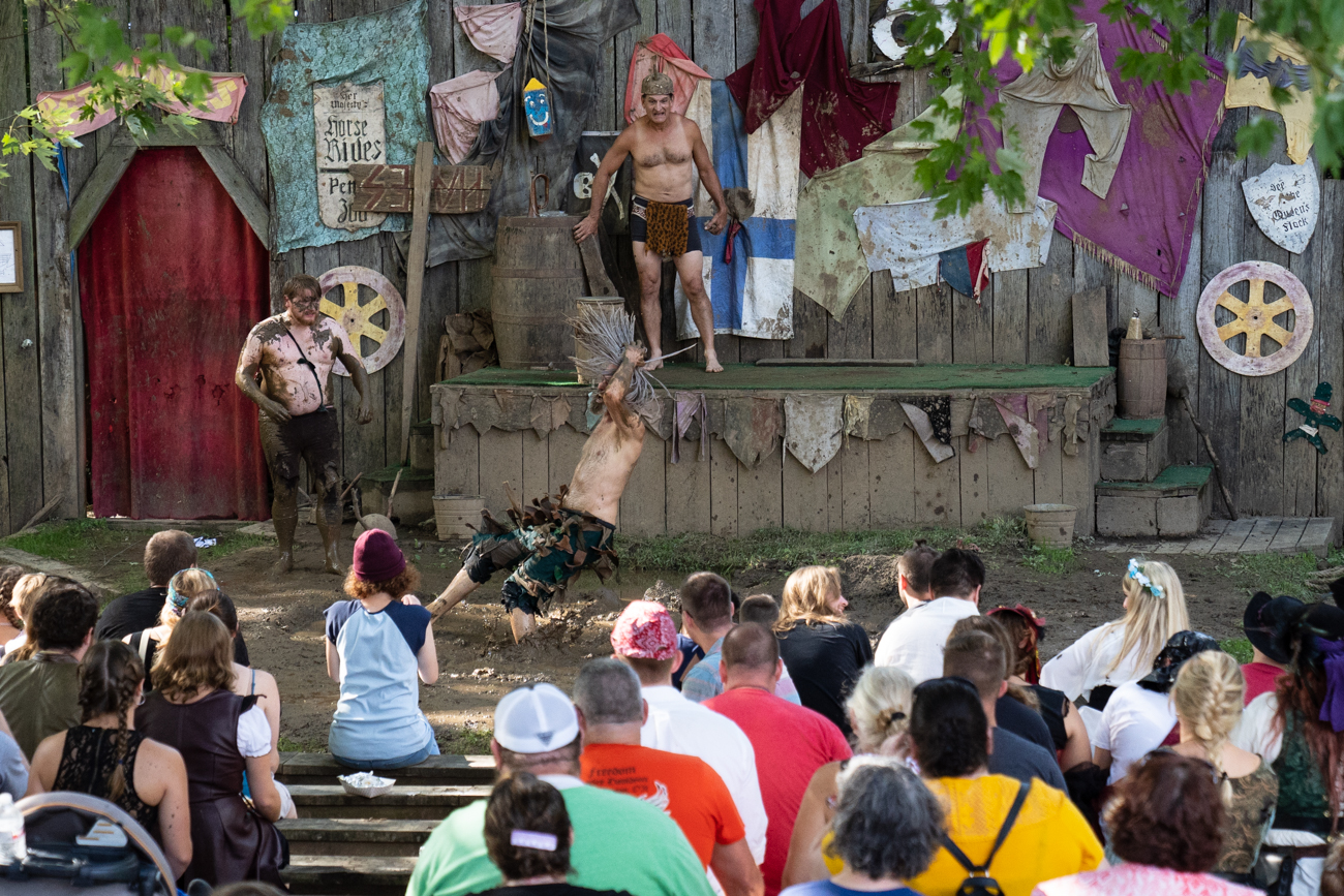 The festival includes 100 daily performances on 12 stages, dueling swordsmen, human-powered rides, and jousting tournaments inspired by ones held over 400 years ago. / Image: Chris Jenco // Published: 9.24.18