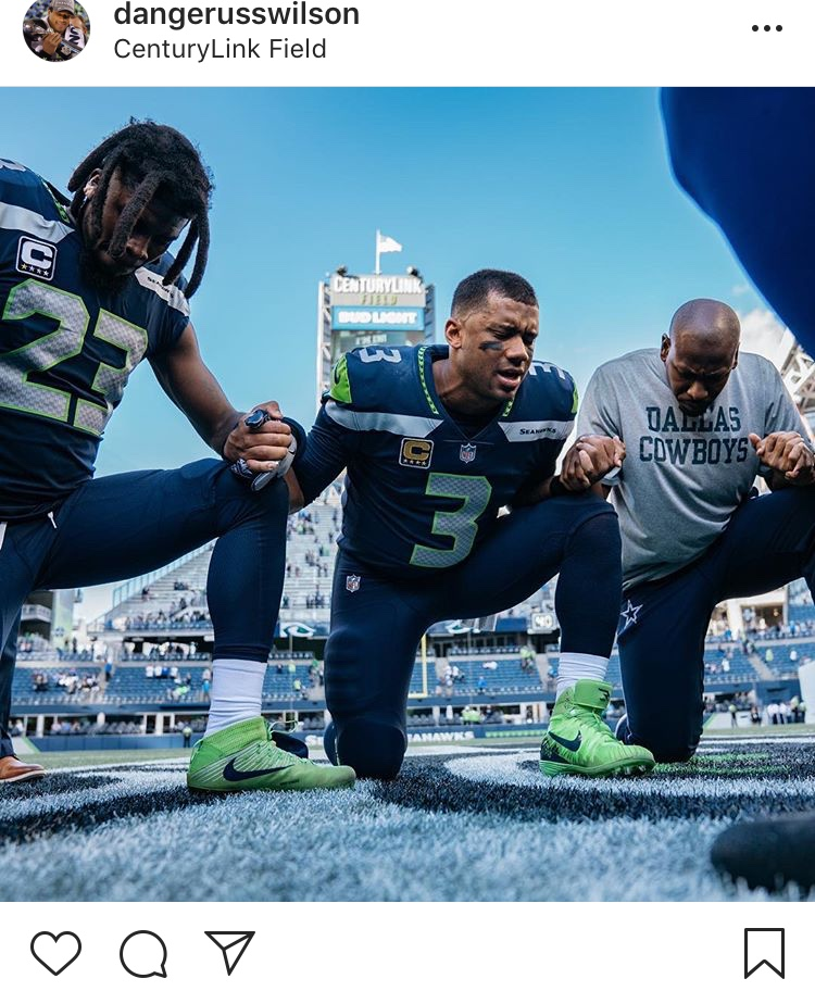 That one time Russ prayed for our happiness... Happy 30th, Russell! (Image: @dangerusswilcon / Instagram.com/dangerusswilson){ }