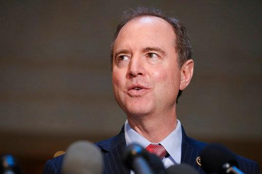 FILE - In this June 6, 2017, file photo, Rep. Adam Schiff, D-Calif., ranking member of the House Intelligence Committee, speaks after a closed meeting on Capitol Hill in Washington. Hundreds of fake Facebook accounts, probably run from Russia, spent about $100,000 on ads aimed at stirring up divisive issues such as gun control and race relations during the 2016 U.S. presidential election, the social network said Sept. 6, 2017. Schiff said Facebook's disclosure confirmed what many lawmakers investigating Russian interference in the U.S. election had long suspected. (AP Photo/Alex Brandon, File)