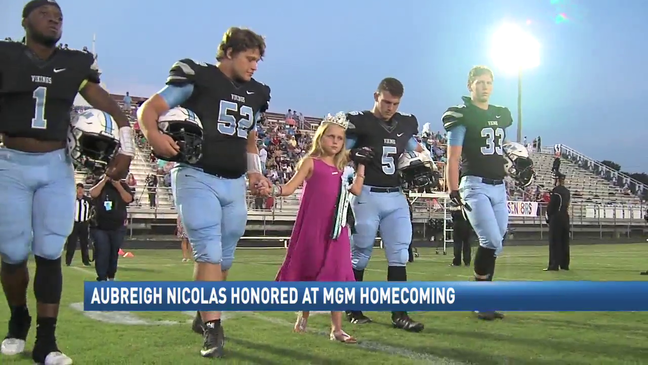 Aubreigh Nicolas honored at MGM homecoming