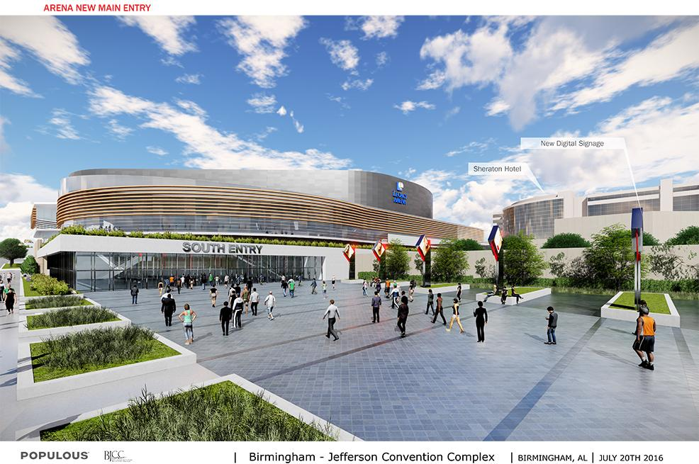Enhancement of the BJCC campus buildings facades and Legacy Arena entries (BJCC)