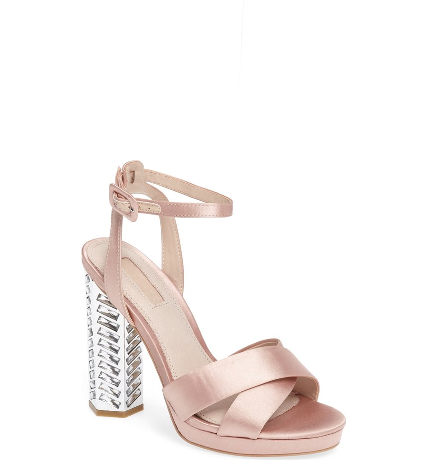 These 'Topshop Luna Embellished Sandal' scream Happy New Year!  (also comes in black) $110.00 (Image: Nordstrom)