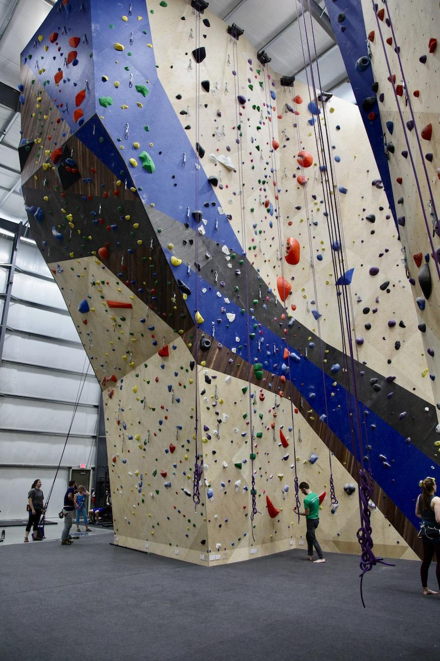 New climbers can take classes and rent equipment. The pro shop sells clothing, books, accessories and climbing gear. Members of the gym get a discount in the shop, as well as guest passes and access to free yoga classes, too. The Ohio Climbers Coalition also has a women's climbing group that meets there the third Sunday of the month from 2 to 4 PM. / Image: Chez Chesak // Published: 2.1.20{ }