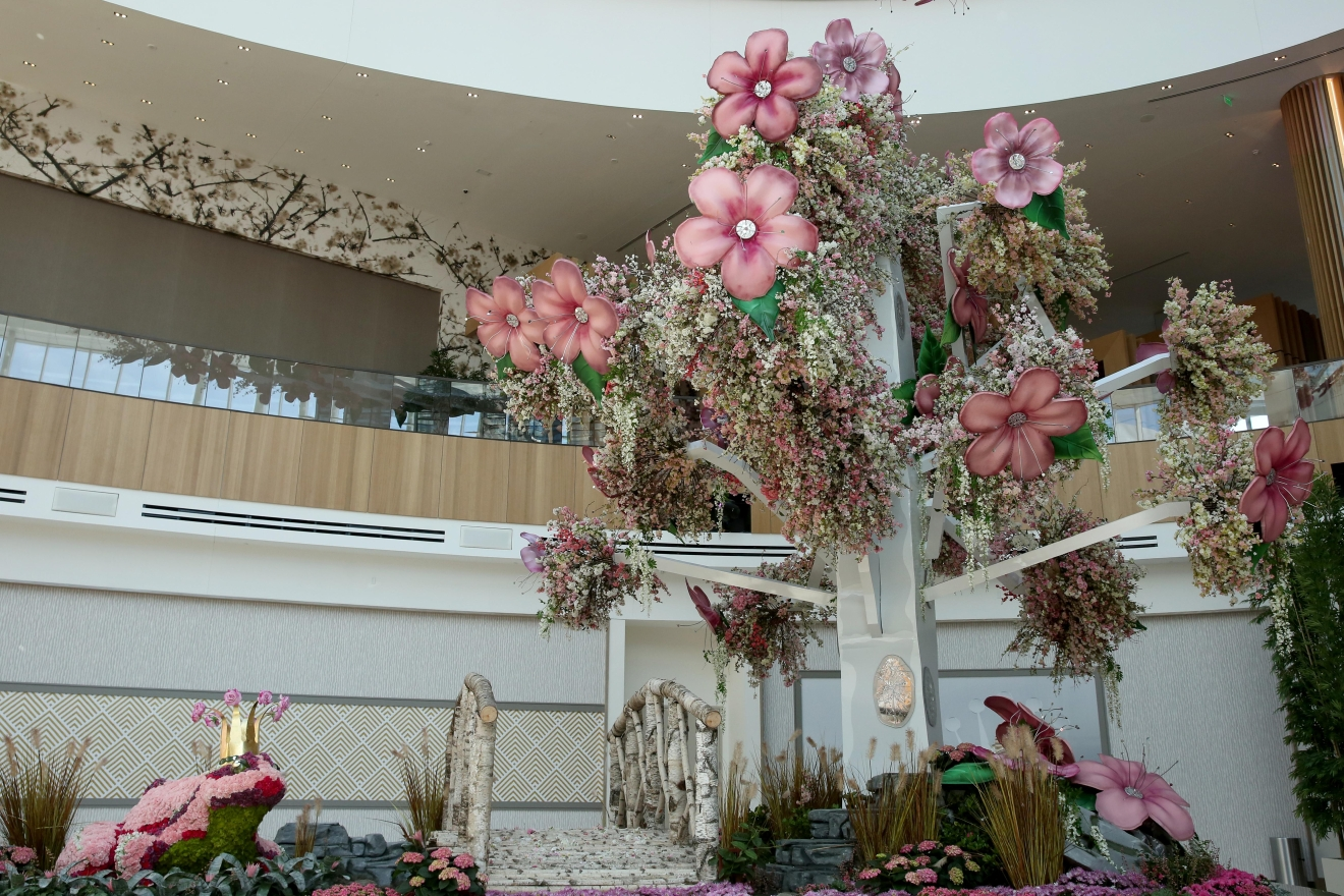The recent frost killed off at least half of the cherry blossoms around the tidal basin, but if you're missing the prettiest part of spring then head to MGM National Harbor. The massive display includes thousands of real cherry blossoms and other pink-hued flowers. (Amanda Andrade-Rhoades/DC Refined)