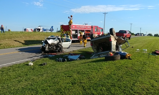 Emergency personnel responded to a multi-vehicle accident on Highway 87. (Courtesy: Joe Blakely)