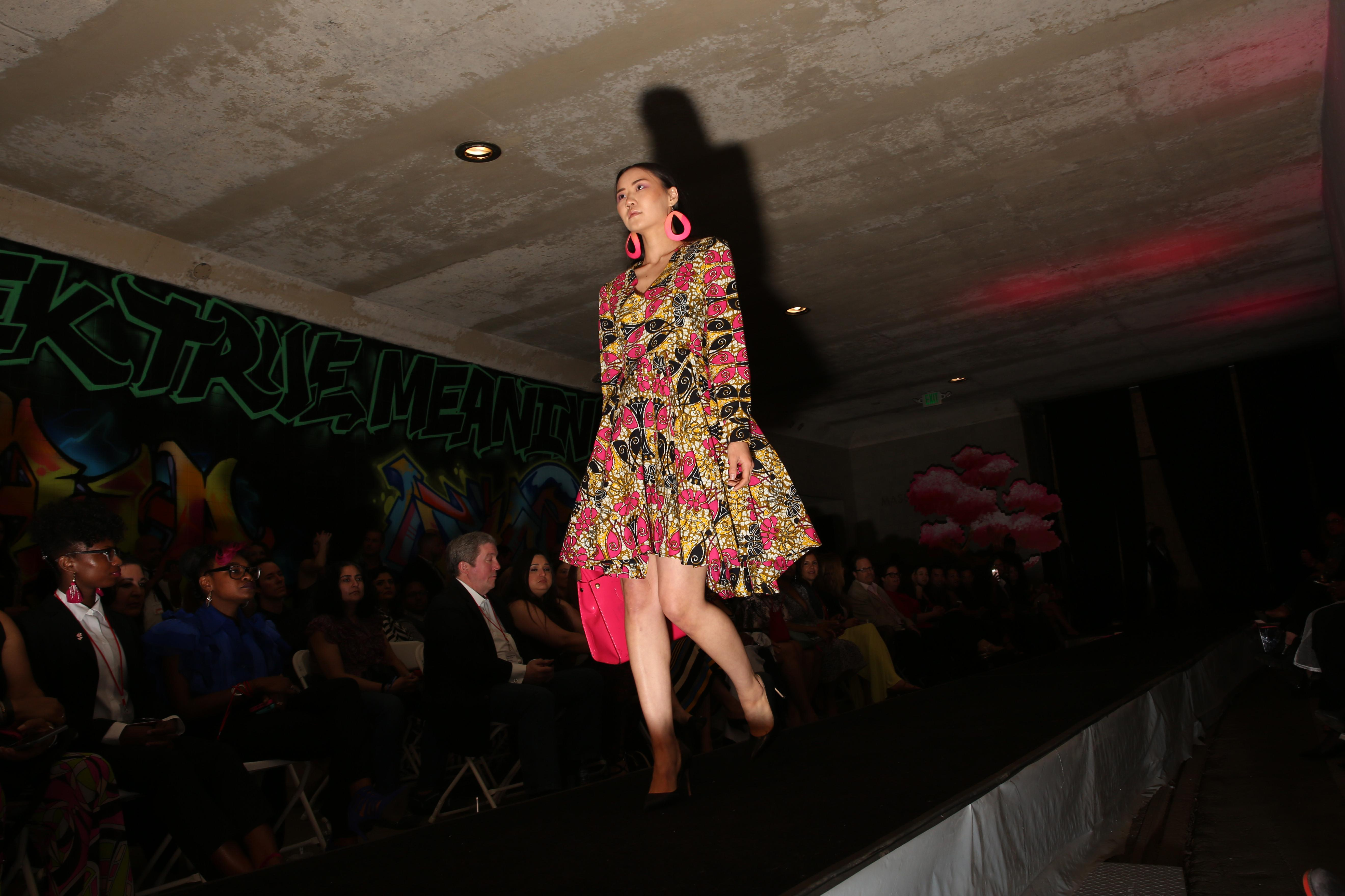 Dupont Underground is one of D.C.'s coolest art spaces, but on April 15 all eyes were on the runway for 'Underneath it All' - the space's first fashion show in conjunction with the National Cherry Blossom Festival. The evening featured several different local designers, all with unique collections. (Amanda Andrade-Rhoades/DC Refined)