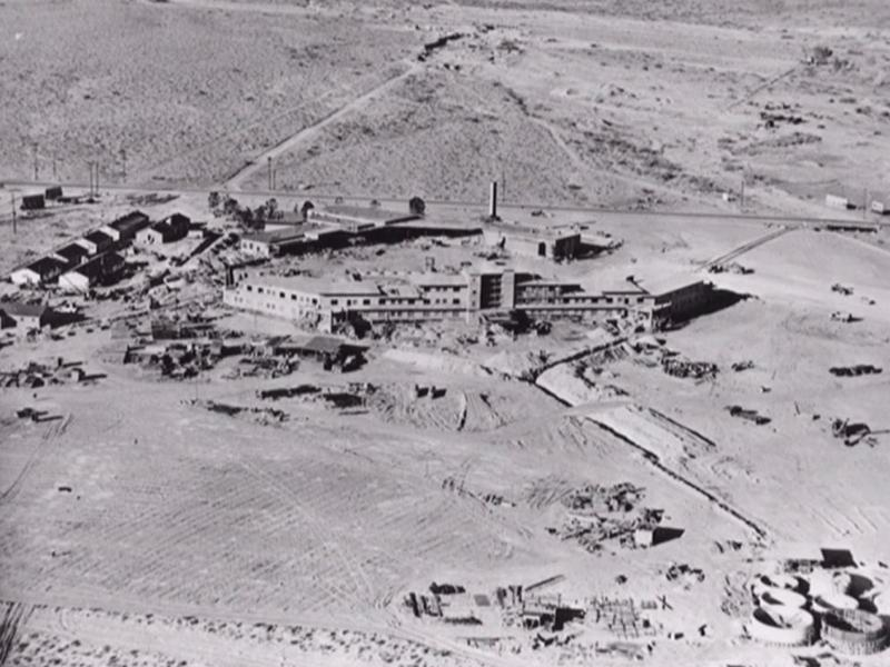 Flamingo Being Built (Nevada State Museum)