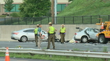 Police: 2 dead in 3-car crash after report of car driving the wrong way in Maryland