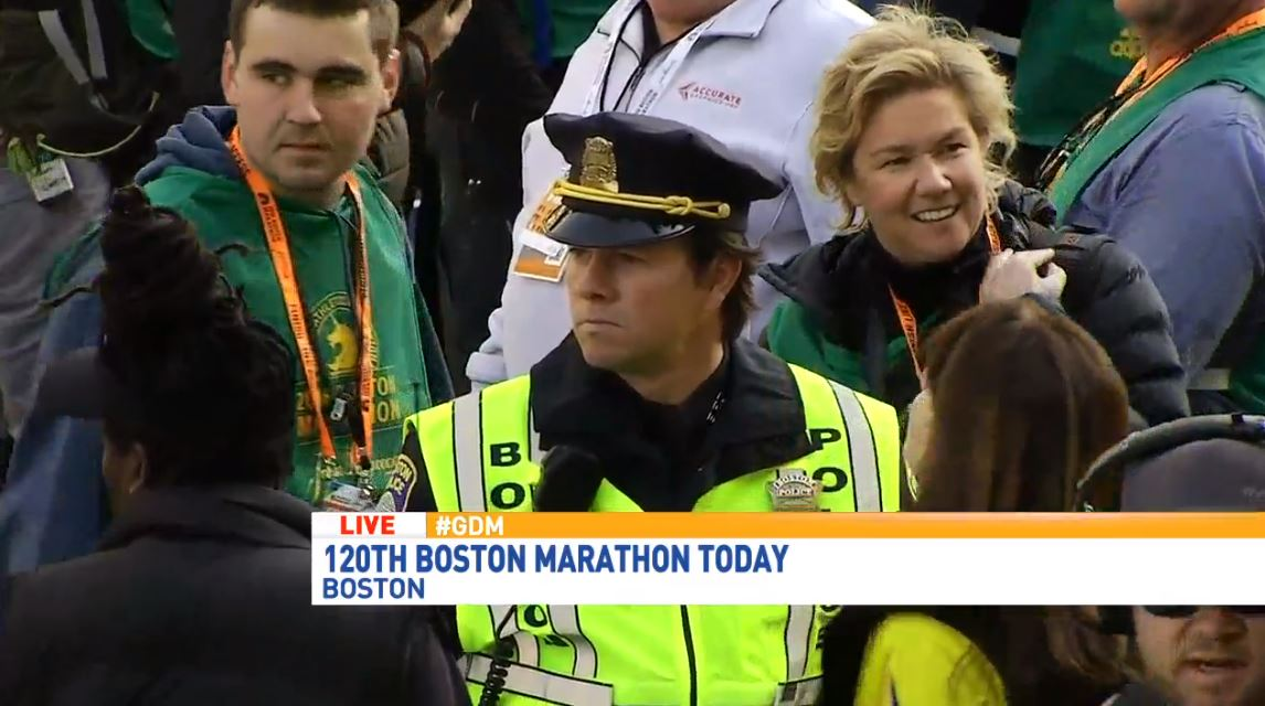 Mark Wahlberg spotted filming 'Patriots Day' at Boston Marathon (WGME)