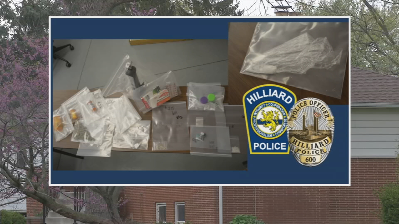 Hilliard police took drugs and drug paraphernalia off the street after a bust in a quiet neighborhood. (WSYX/WTTE)