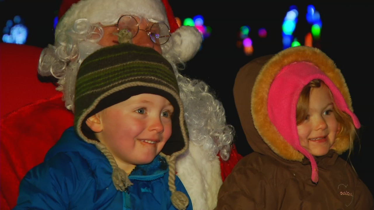 The storm this past weekend caused the Lake Julian Festival of Lights to close Friday through Sunday, which cost the Buncombe County Special Olympics hundreds of dollars. (Photo credit: WLOS staff)