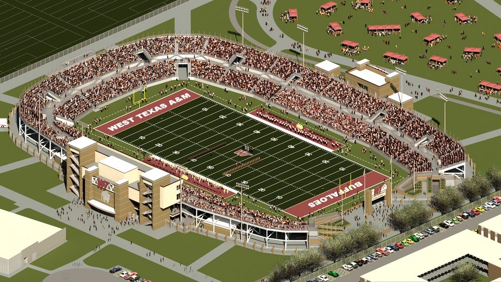 texas a m system board of regents approves on campus wt football stadium project kvii. Black Bedroom Furniture Sets. Home Design Ideas