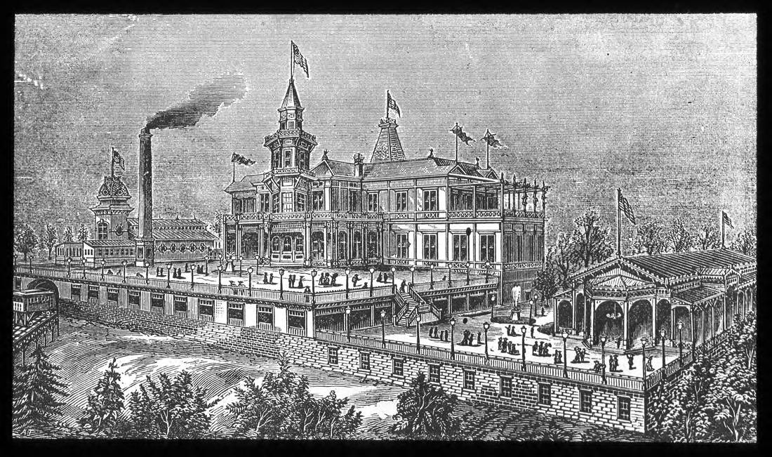 Highland House, an entertainment venue at the summit of Mt. Adams, attracted incline-goers to stop and party when they could. Though it only lasted about 20 years (1876-1895), it made a lasting impression on the late-19th Century Cincinnatians who frequented it. It was regarded as a classier establishment than Mt. Auburn's Lookout House. / Image courtesy of the Public Library of Cincinnati and Hamilton County // Published: 1.2.19