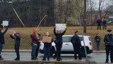 Homeless advocates protest Cranston's new panhandling policy