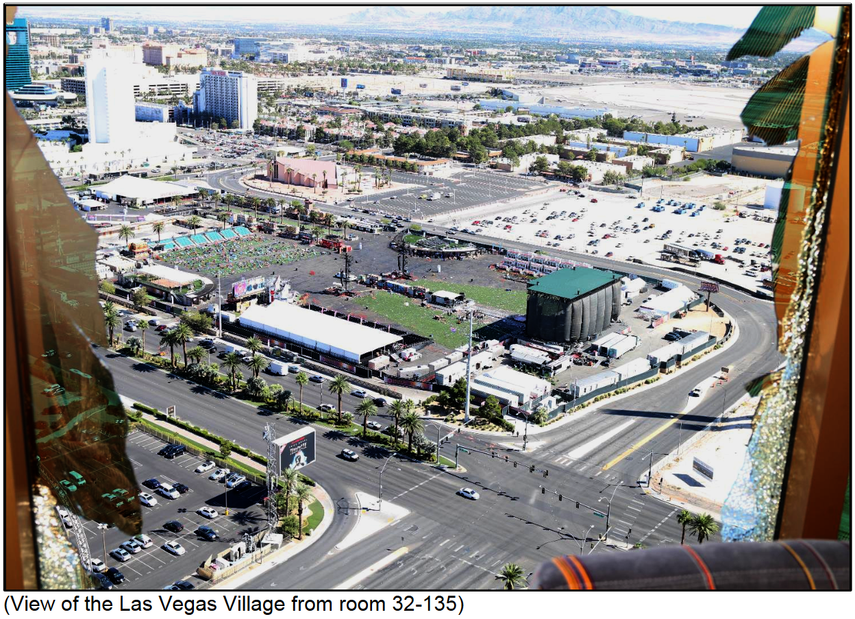 View of the Las Vegas Village from room 32-135{ }(Courtesy LVMPD)