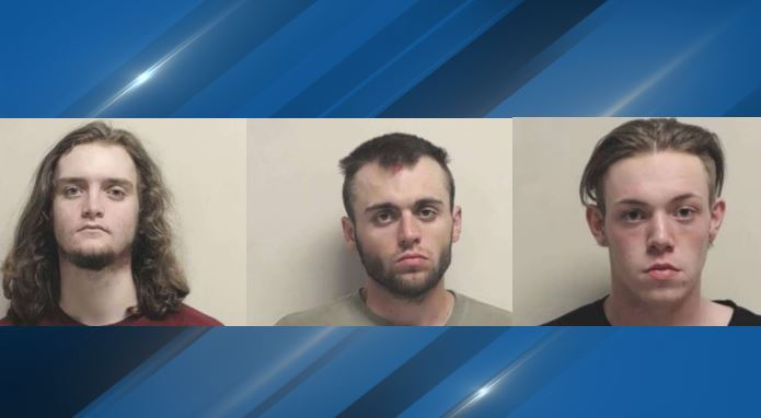 Nathan Thomas, Malachi West and Sebastian West are accused of attacking a Black missionary for The Church of Jesus Christ of Latter-day Saints. (Photos: Utah County Sheriff's Office){&nbsp;}<p></p>