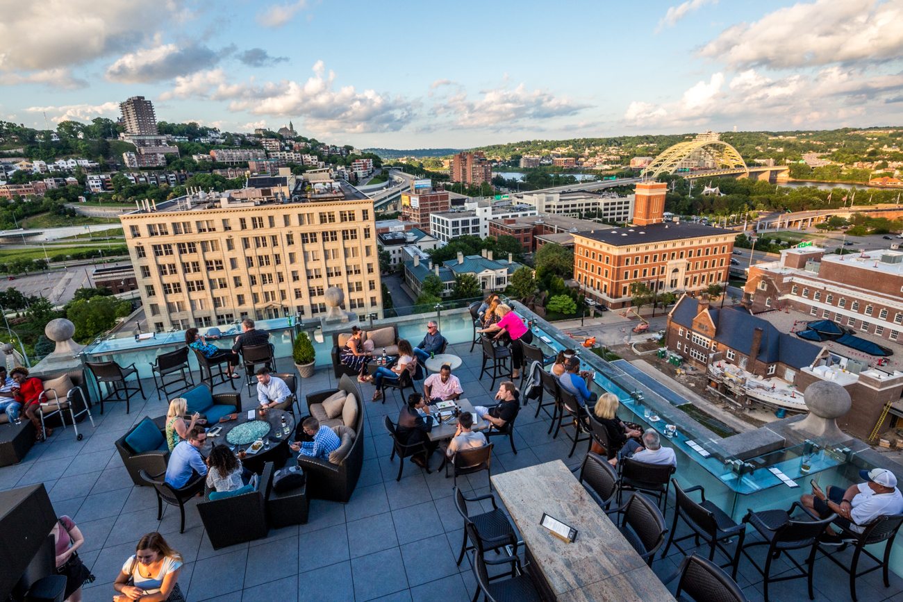 PLACE: Top of the Park / ADDRESS: 506 E 4th Street (45202) / Okay, fine, we cheated a little bit on this one. Top of the Park is a rooftop bar, yes, but we like to think of it as an especially tall patio. One of the reasons it stands out is because it's actually two patios stacked on top of each other. Depending on which level you're on, you can see different things from a perspective only drones would be able to enjoy. Not a bad way to enjoy a gin and tonic, right? / Image: Catherine Viox // Published: 7.7.19
