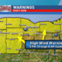 High wind warning in Rochester