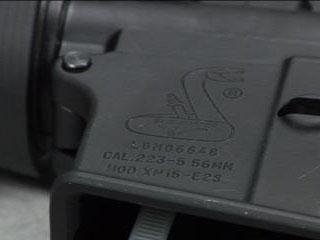 Serial number on a AR-15 rifle