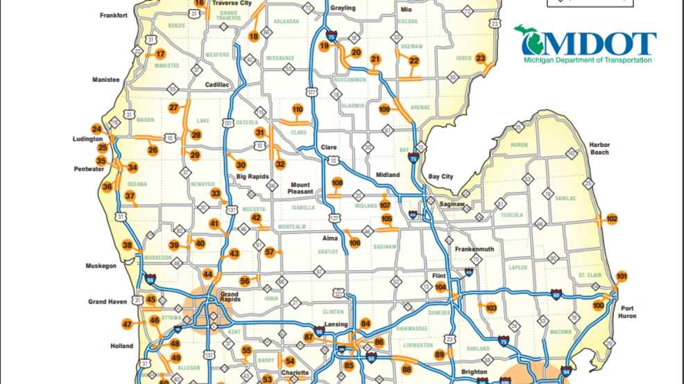 Mdot Releases 2018 State Construction Map Wwmtcw