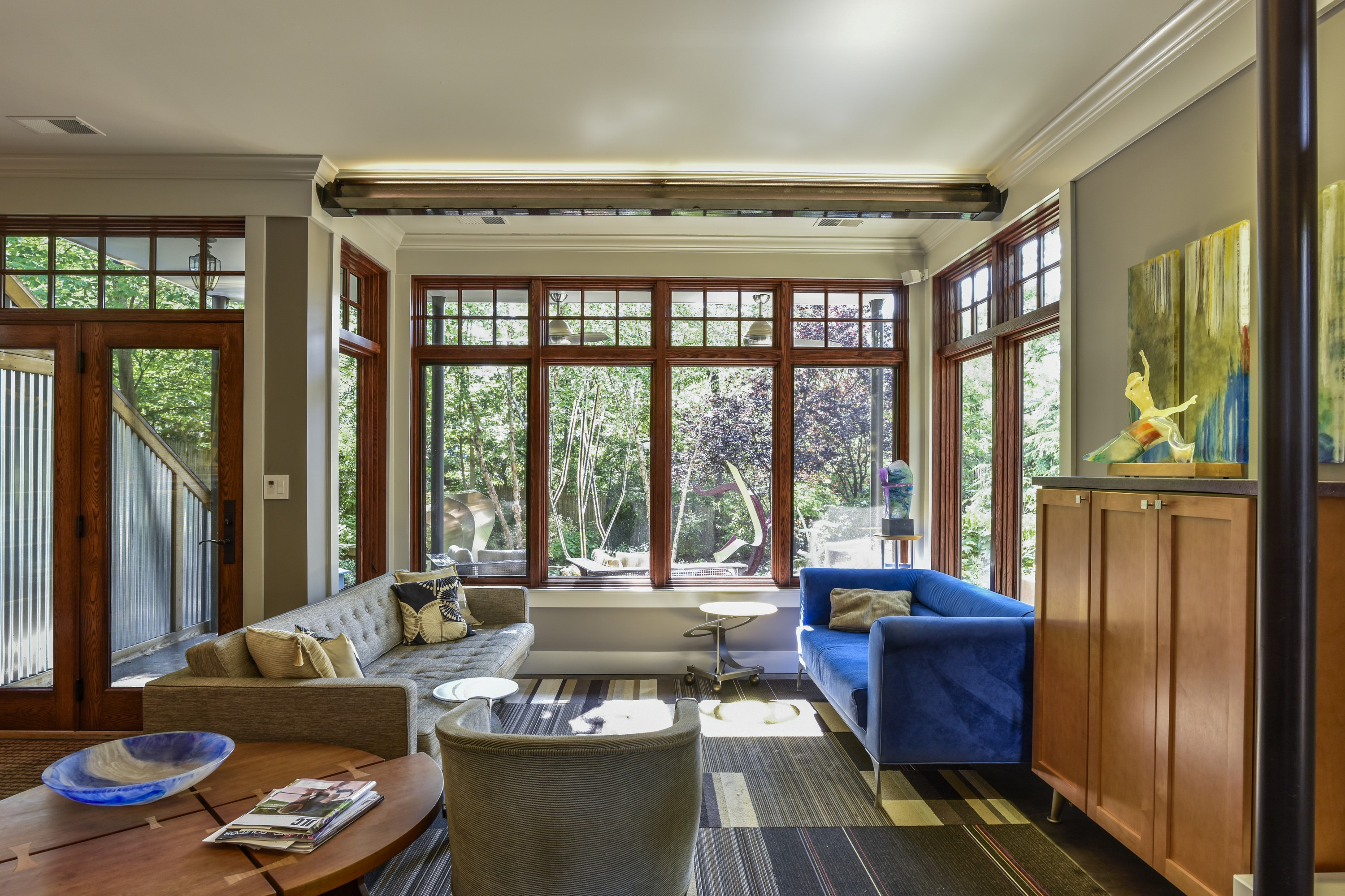 "This extensively remodeled ""worker's"" bungalow has an eclectic mix of modern and craftsman finishes and details. (Image: Felicia Evans)"