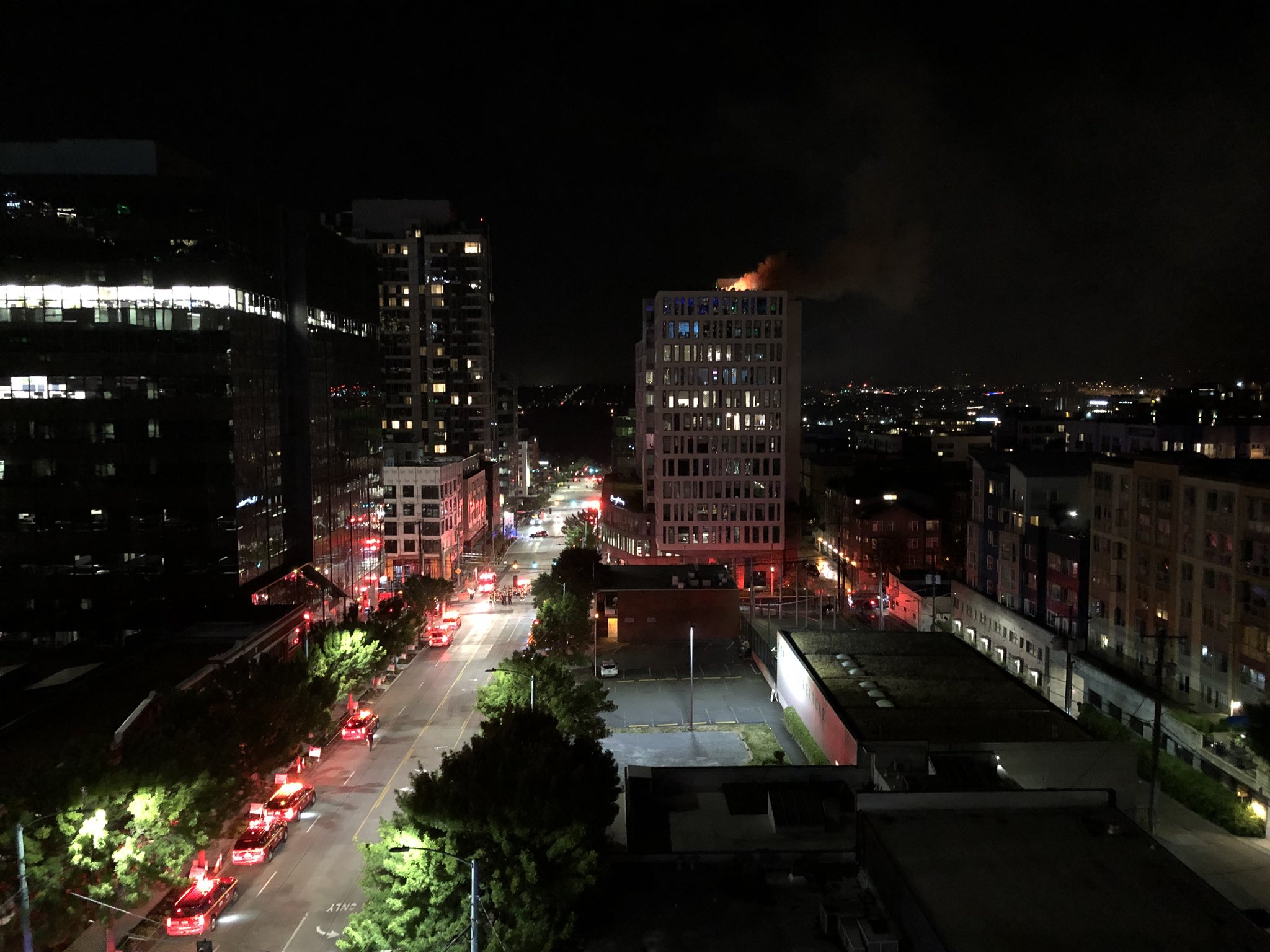 The Seattle Fire Department Extinguished A Fire On The Roof