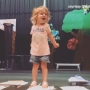 2-year-old dramatically, and adorably, sings the letters of the alphabet