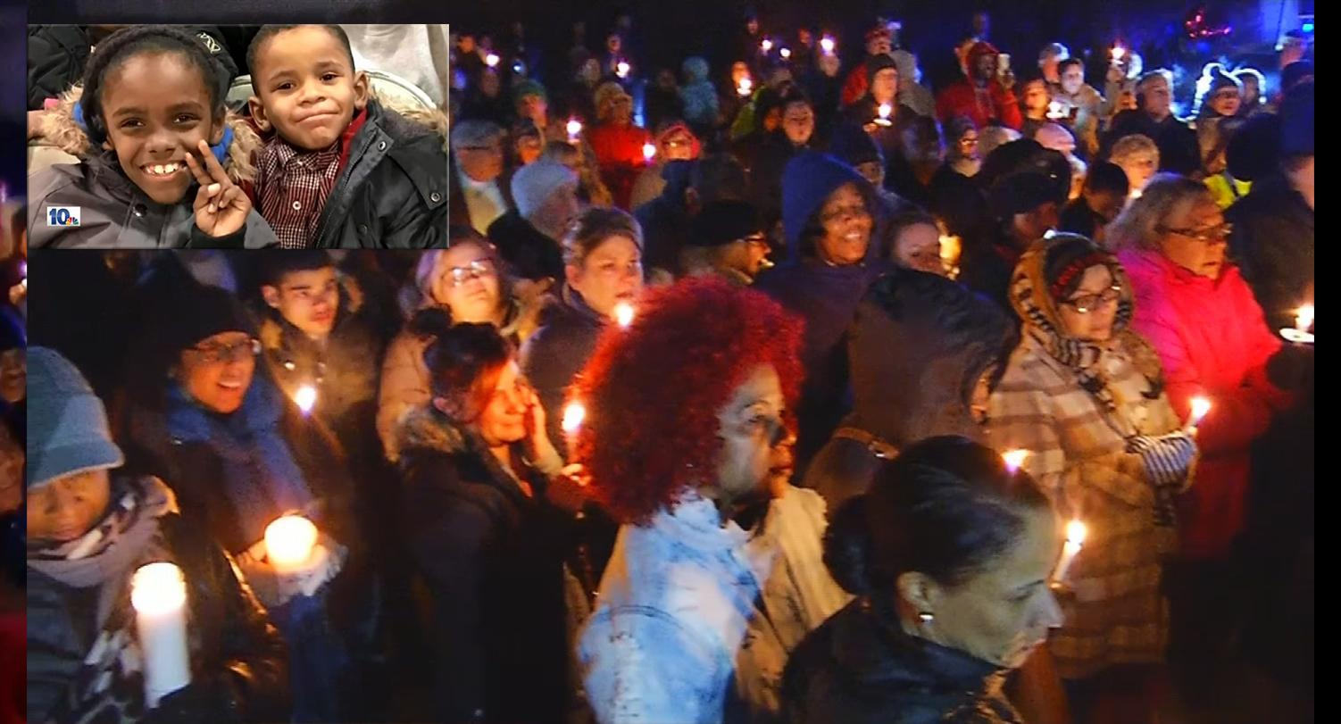 A candlelight vigil was held in Brockton to remember two boys who prosecutors said were killed by their mother.