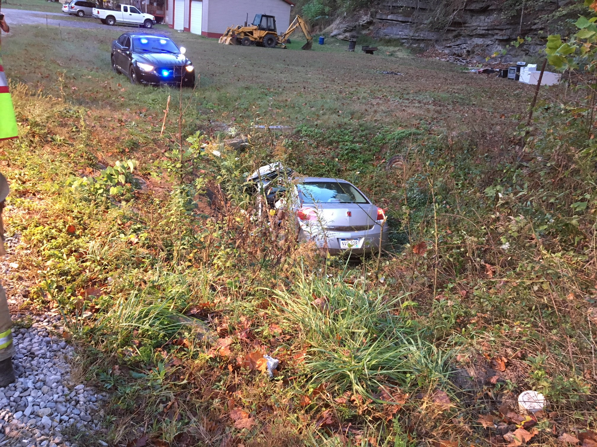 The driver of the Saturn was entrapped in the vehicle. (WCHS/WVAH)<p></p>