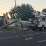 Car crashes into power pole in West Richland causing traffic backup