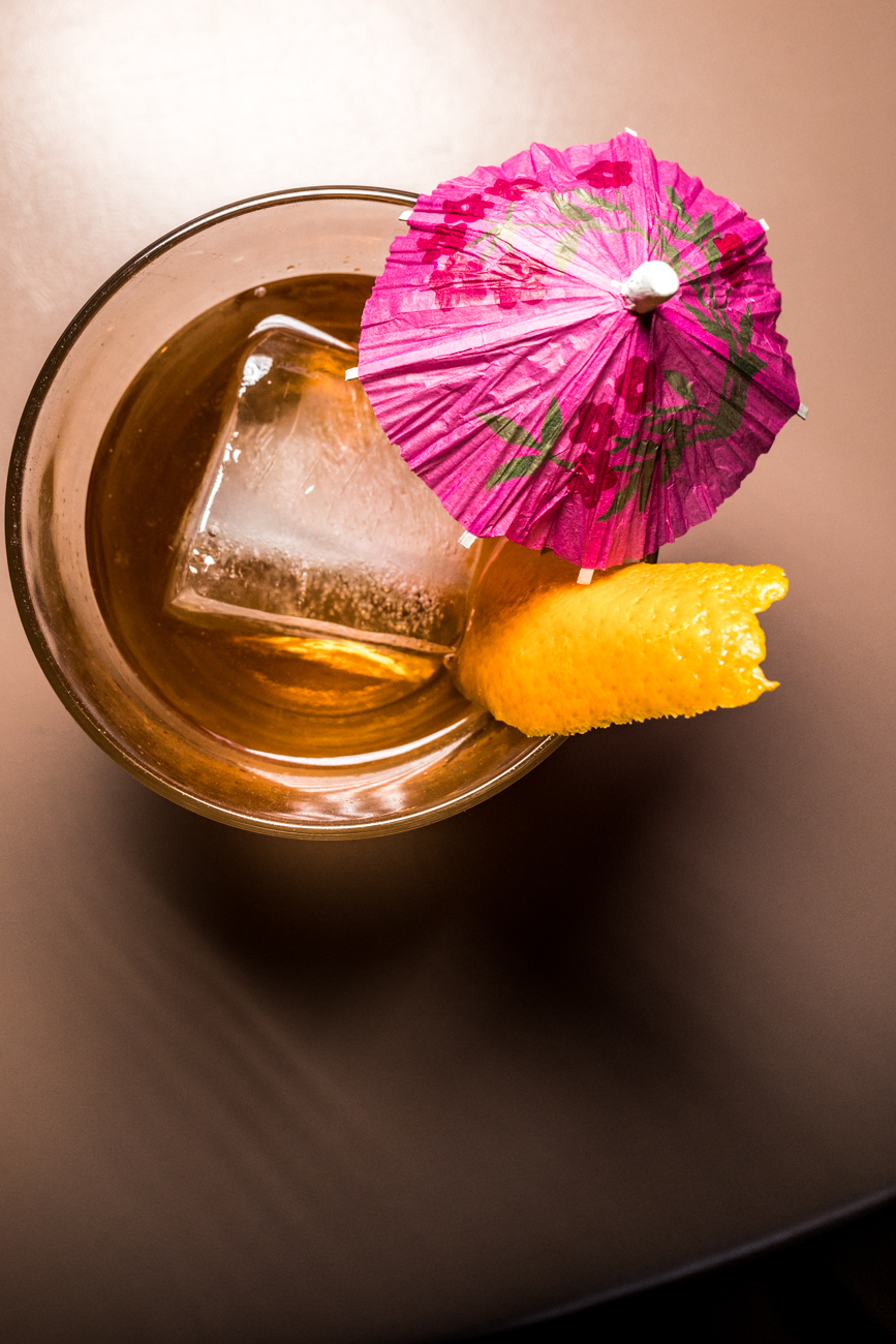 Mezcal Old Fashioned: mezcal, tequila, Angostura and orange bitters, agave simple syrup, and an orange peel garnish / Image: Catherine Viox{ }// Published: 3.3.20