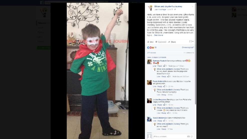 Birthday Cards Sent From Near And Far To Potsdam Boy Battling Rare