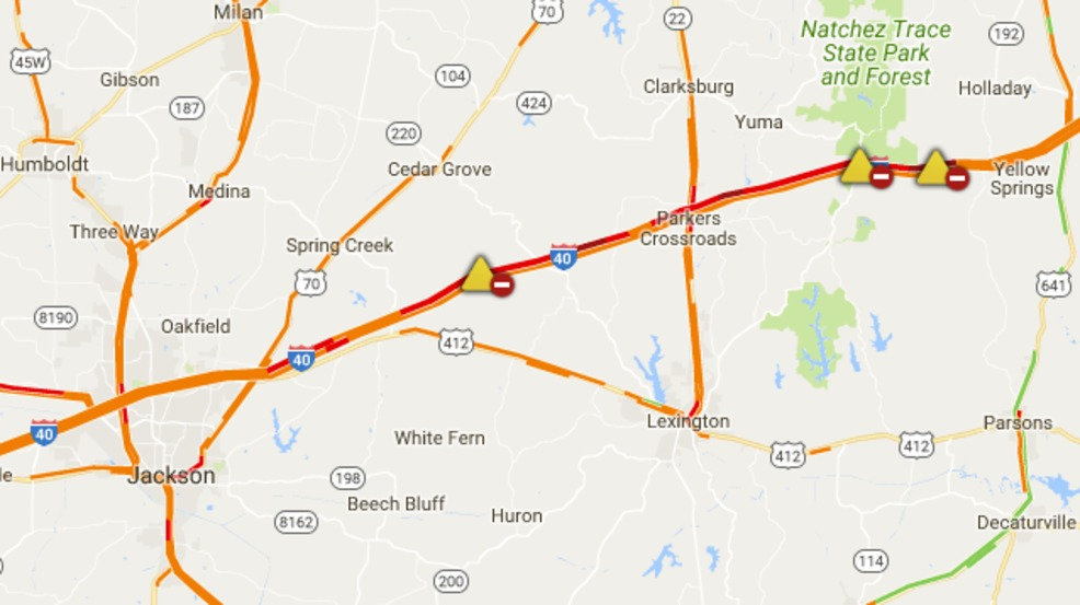 Jackknifed tractor trailer closes I40 WB in Henderson County WZTV
