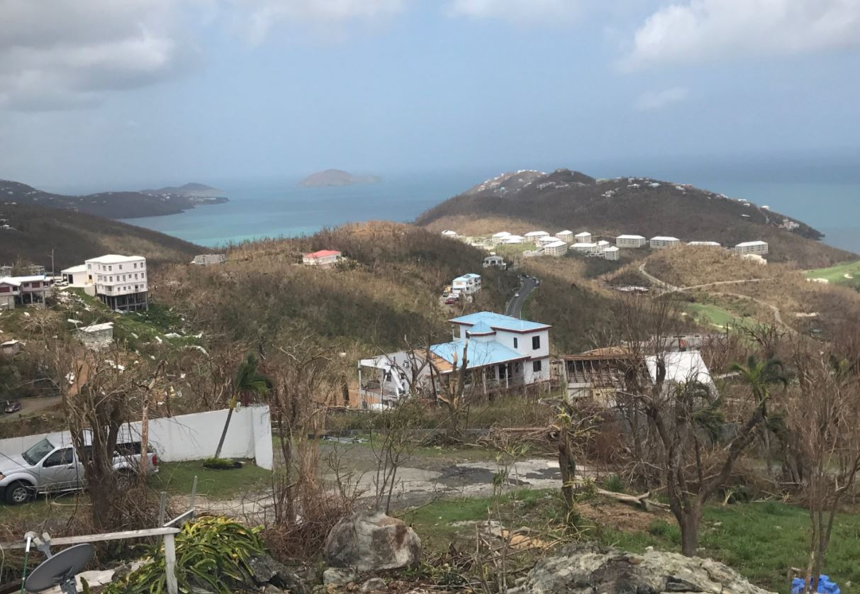 A Granger native waited out Hurricane Irma from a cement bunker in the U.S. Virgin Islands// Michael Coleman