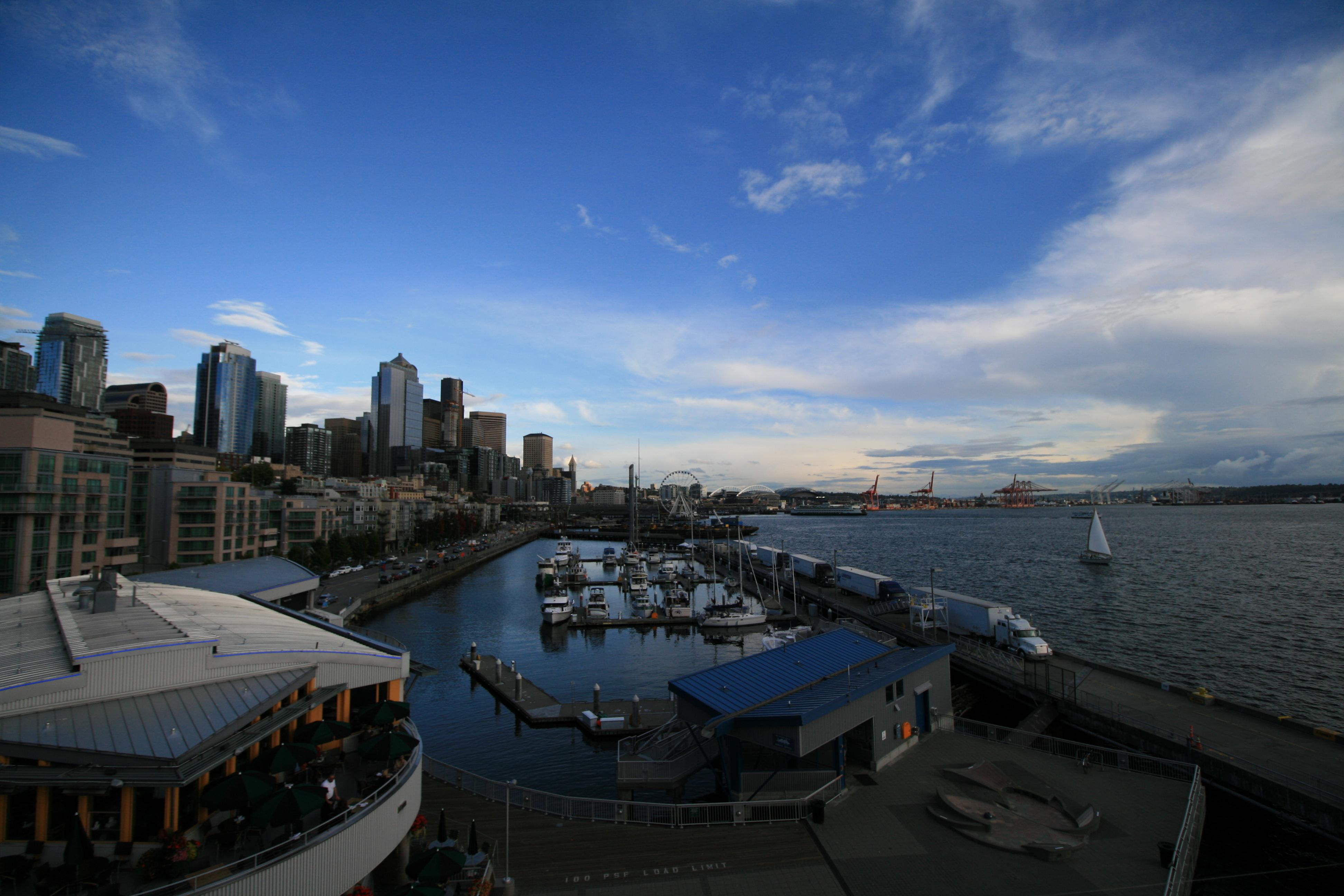 Pier 66 is a dock redeveloped by the Port of Seattle into an urban park and cruise ship terminal. (Image: Elizabeth Blanton / Seattle Refined)