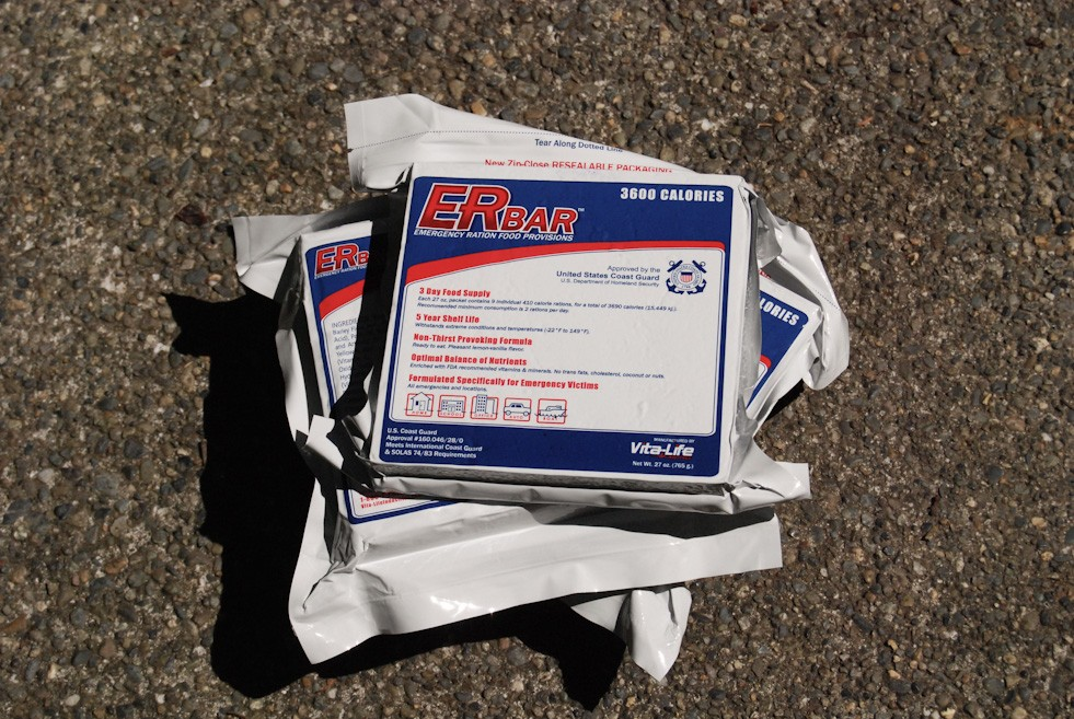 Emergency Ration Food Provisions provide dense, caloric food with a long expiration date and make for a great part of your emergency preparedness kit. (Image: Rebecca Mongrain/Seattle Refined)