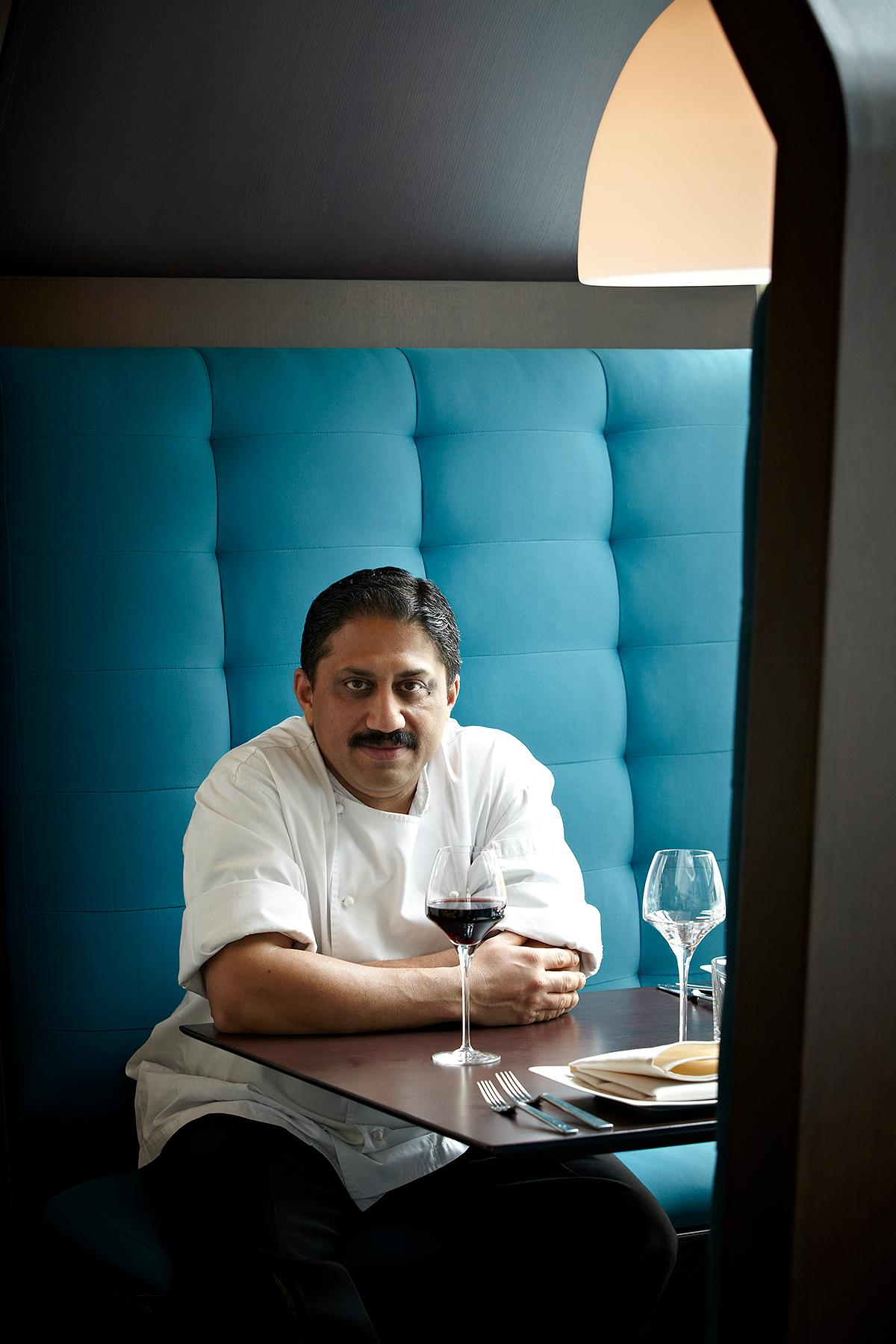 Vikram Sunderam of Rasika is a semifinalist for Outstanding Chef. (Image: Greg Powers)