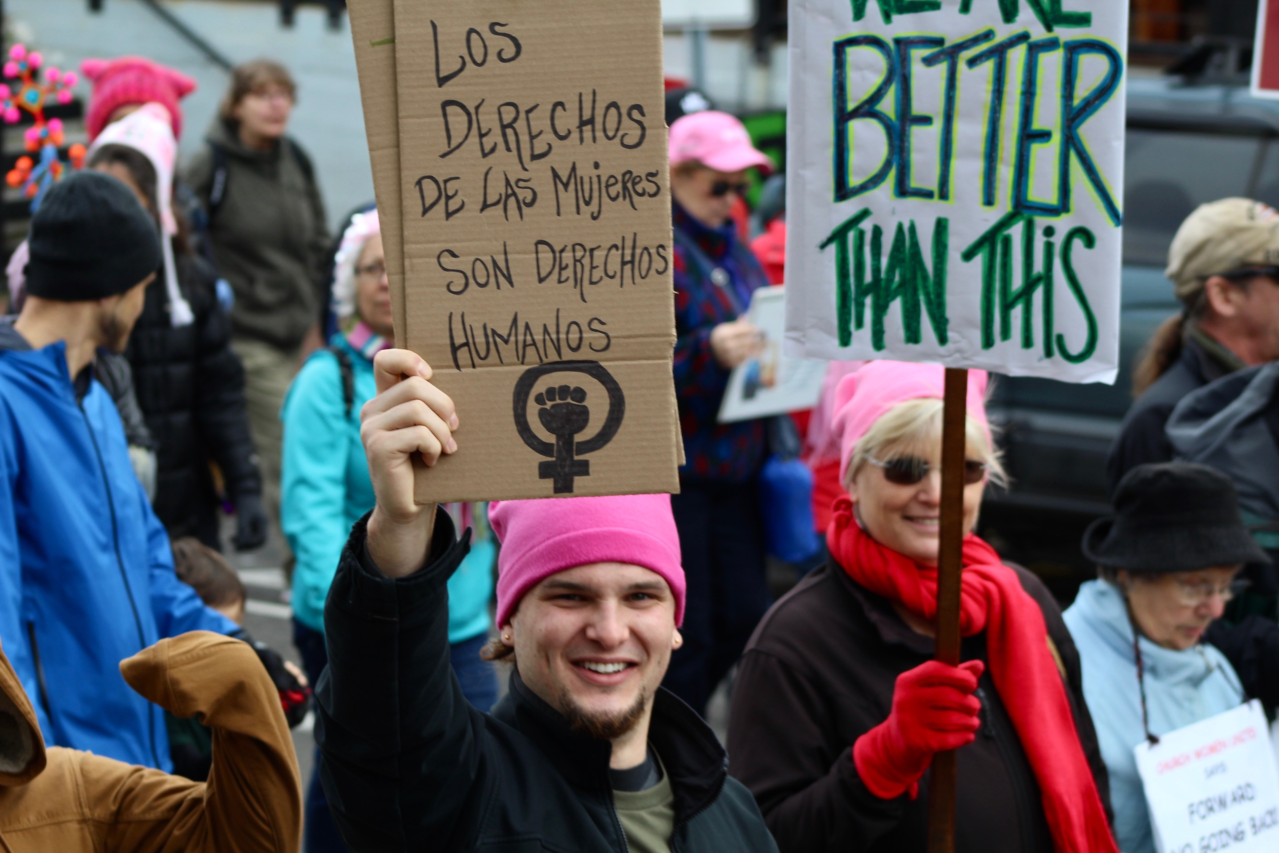 Challenger Scat Pack >> Sights and signs from the 2018 Eugene Women's March | KVAL