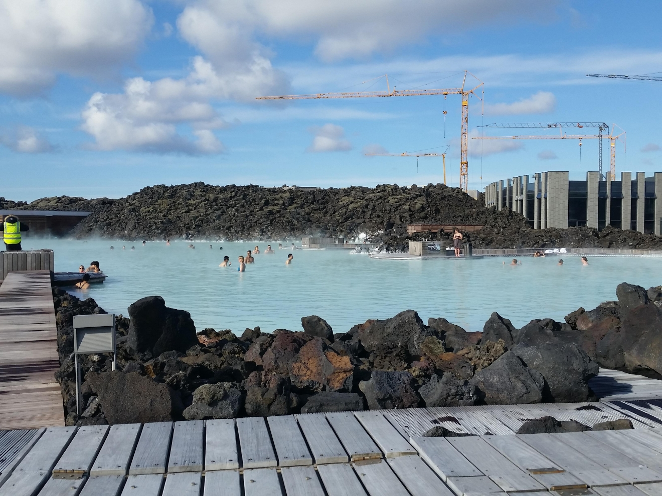 The Blue Lagoon officially opened in 1992, but the area dates back to 1976, when runoff water from the nearby Svartsengi geothermal power station formed a silica-rich pool. (Image: Kelly Magyarics)