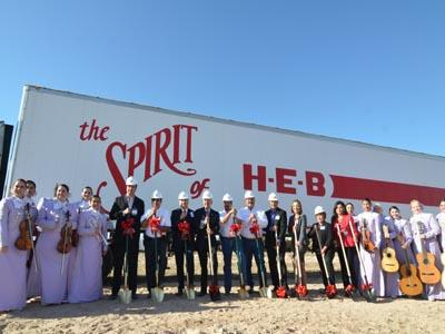 Groundbreaking for HEB in Palmhurst // Courtesy Photo