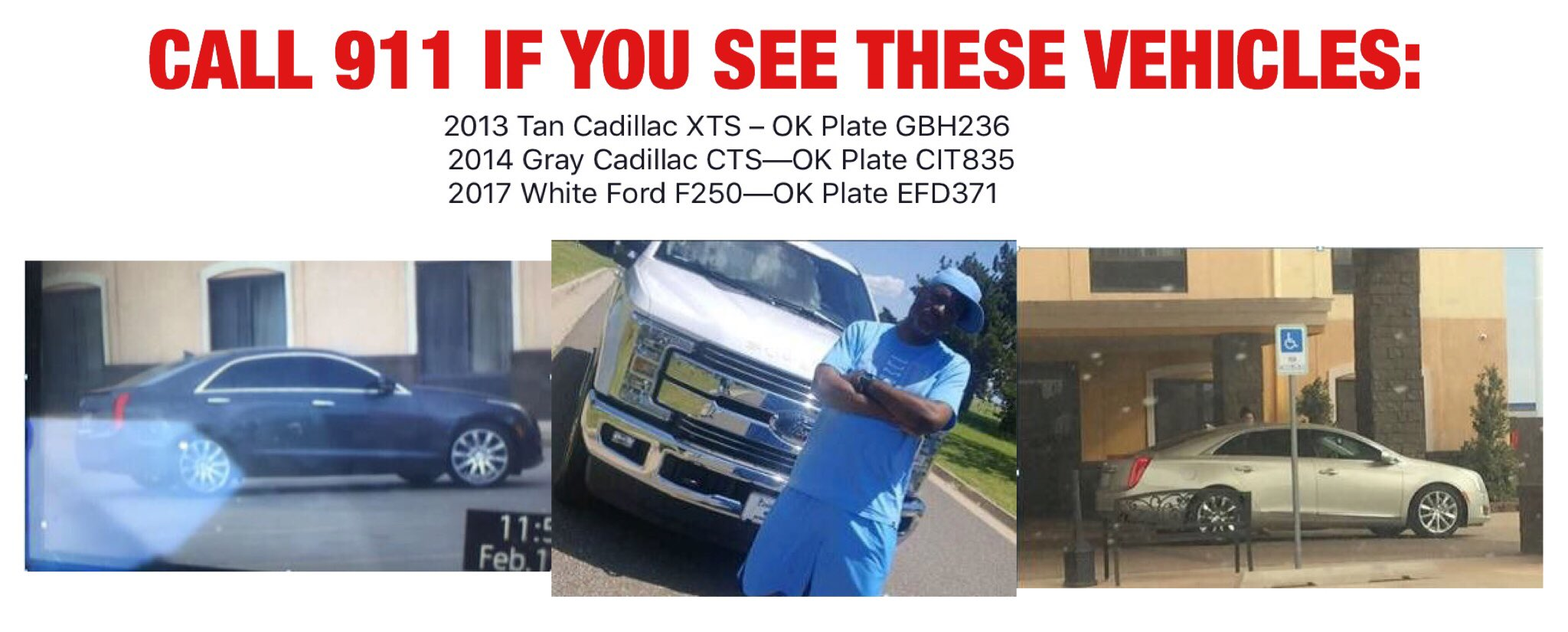 Germaine Coulter and Elizabeth Andrade are facing criminal charges connected to a human trafficking case that police say involved the recruitment of Edmond high school girls. Police are searching for the following vehicles. (Oklahoma City Police Department)